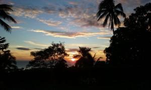 Zonsondergang in de sub tropen